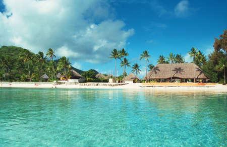 Beautiful resort en Polynésie française Banque d'images