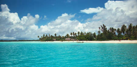 Beautiful resort in French Polynesia photo