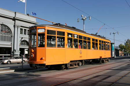 frisco: Peter Witt Streetcar from Milan, Italy in regular service