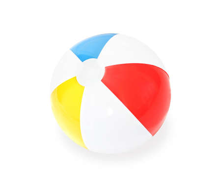 Beach Ball isolated on white background. photo