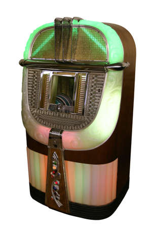 Juke box from the 40s isolated on white background