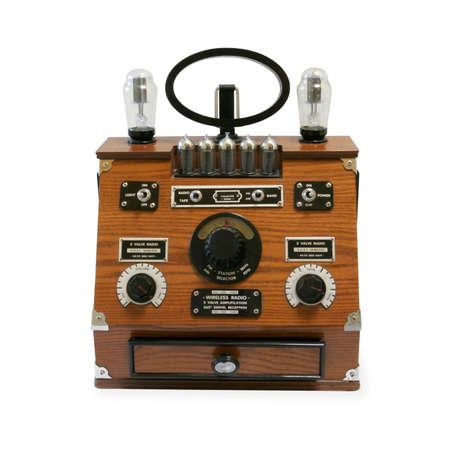 airwaves: Vintage Radio isolated on white background