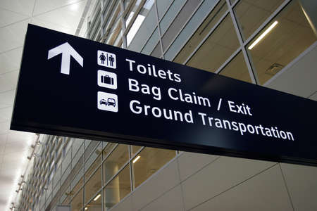 Sign in newly opened Airport Stok Fotoğraf