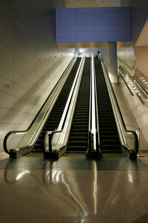 Escalators in new opened Airport photo