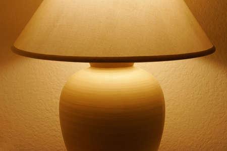 Lamp Table illuminating a Room Stok Fotoğraf