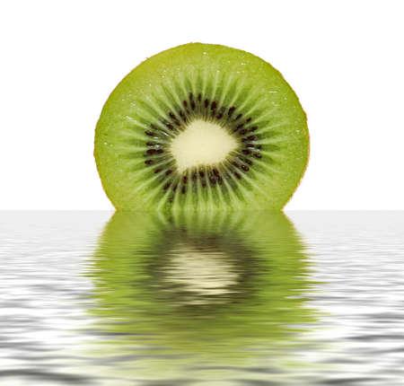 freshest: Fresh Sliced Kiwi isolated on white background