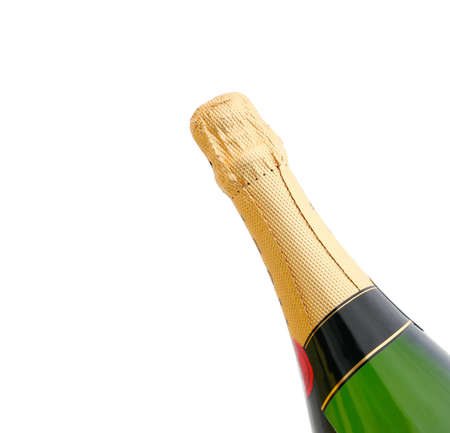 Champagne Bottle isolated on white background