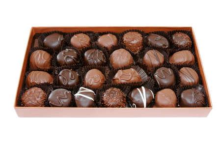 Chocolate Box isolated on white background photo