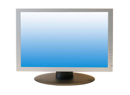Wide Screen LCD Monitor isolated on white background
