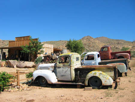 abandonment: Abandoned cars Along Historic Route 66, Peach Springs, AZ