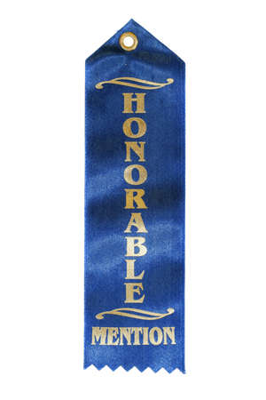 mention: Honorable Mention Ribbon isolated oin pure white background