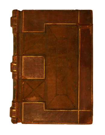 Book cover from 1860 isolated on white background