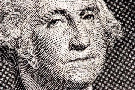 George Washington close up from one dollar bill Stok Fotoğraf - 1788663