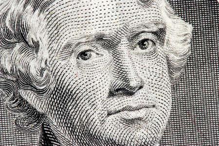 jefferson: Thomas Jefferson close up from one dollar bill