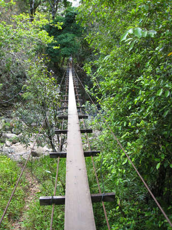 Swinging Bridge in Waihee Valley, Maui photo
