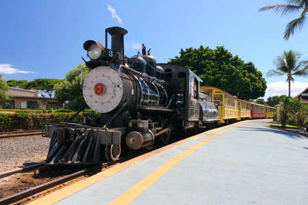 Old Steam train in Maui, US photo