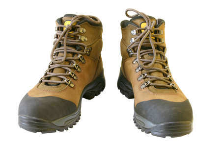 New Hiking Boots isolated on pure white background  photo