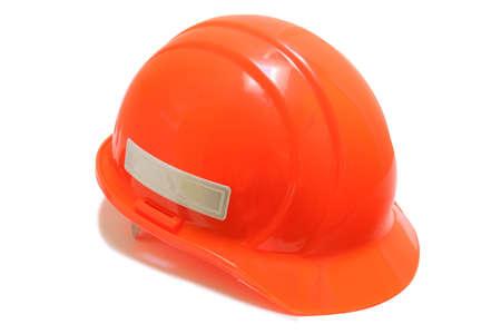 ornage: Ornage Safety Hard Hat isolated on pure white background