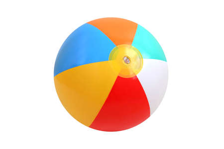 Beach Ball over pure white background