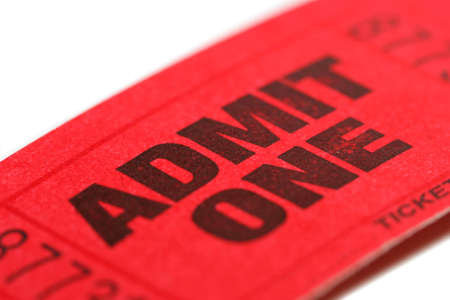 Admit One ticket with shallow DOF