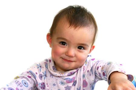 Cute 1 year old baby girl photo