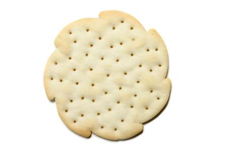 Cracker isolated on pure white background photo