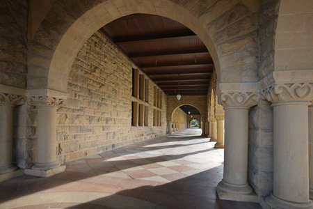 Long Corridor of Arches along an opened courtyard Stock Photo - 2641165