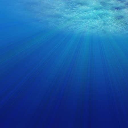 3D Render of Under Water