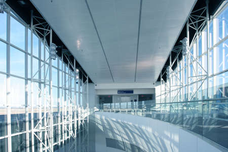 Futuristic Architecture in newly opened airport photo
