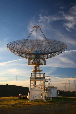 Satellite Dish at Sunset photo