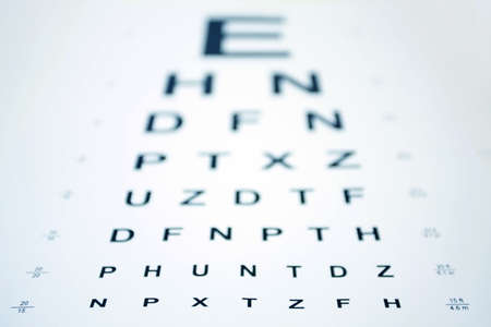 Snellen Eye Chart with shallow depth of field