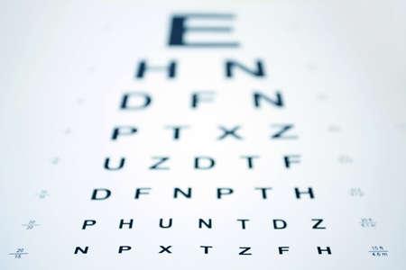 Snellen Eye Chart with shallow depth of field