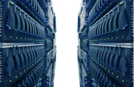 Computer Racks in Internet Data Center