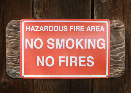 Warning sign: No Smoking, No Fire Stock Photo - 2816027