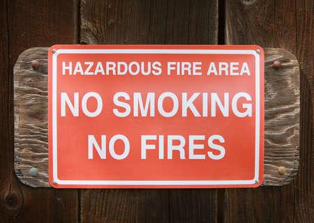 Warning sign: No Smoking, No Fire Stock Photo - 2816027