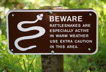 Rattlesnake Warning Sign  Stok Fotoğraf