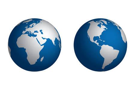Planet Earth, 2 different views Çizim