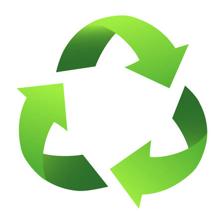 Green Recycle Sign, with gradient Vector