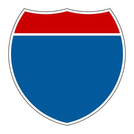 Lege Interstate teken op witte achtergrond  Stock Illustratie