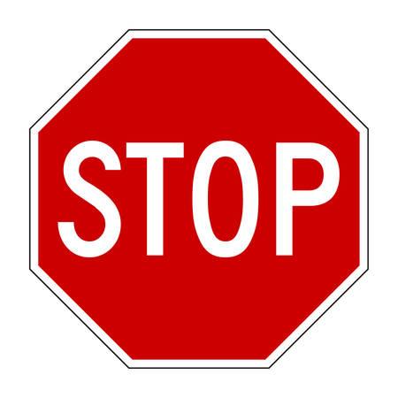 panneaux danger: Vector illustration de Stop signe isol� sur blanc pur