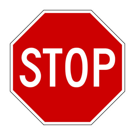 with stop sign: Vector illustration of Stop sign isolated on pure white