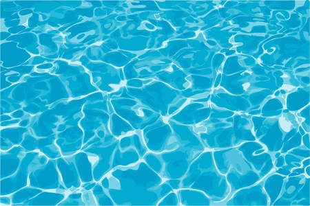 Réflexion de Sun dans l'eau - 6 couleurs illustration vectorielle