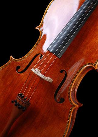 sonata: Beautiful Cello on pure black background