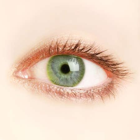 Green eye Macro photo