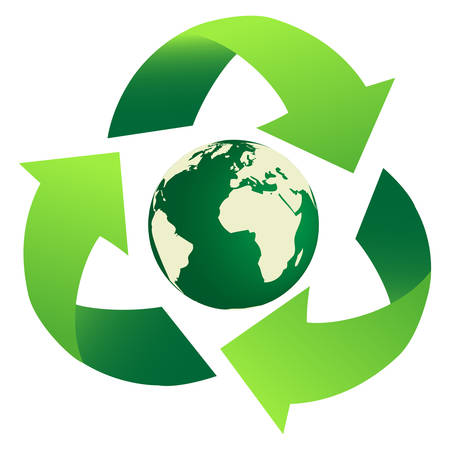 Recycling Earth Standard-Bild - 4588916