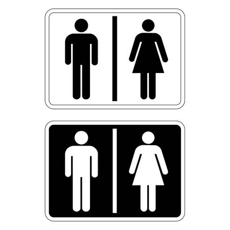 Toilet Sign Illustration