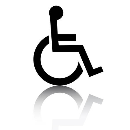 Disabled icon with glossy effect Stock Illustratie