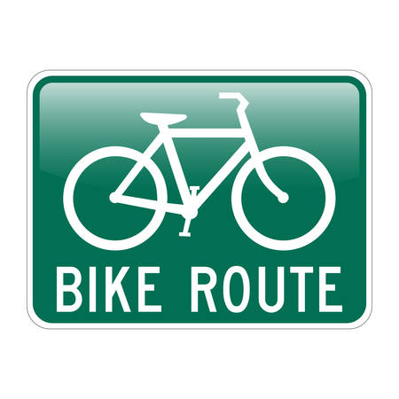 Bike Route with glossy effect Illustration
