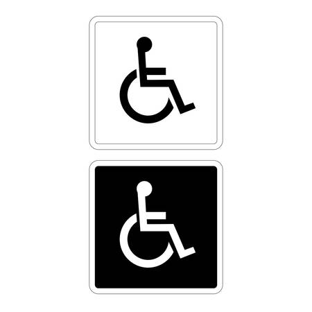 Disabled Sign in Black and White Vector