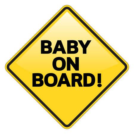 informative: advisory, ahead, alarm, alert, announce, baby, board, car, caution, constraint, danger, dangerous, diamond, dissuade, drive, effect, glossy, harm, icon, info, information, informative, isolate, isolated, one, post, restrict, restriction, road, rule, safet Illustration